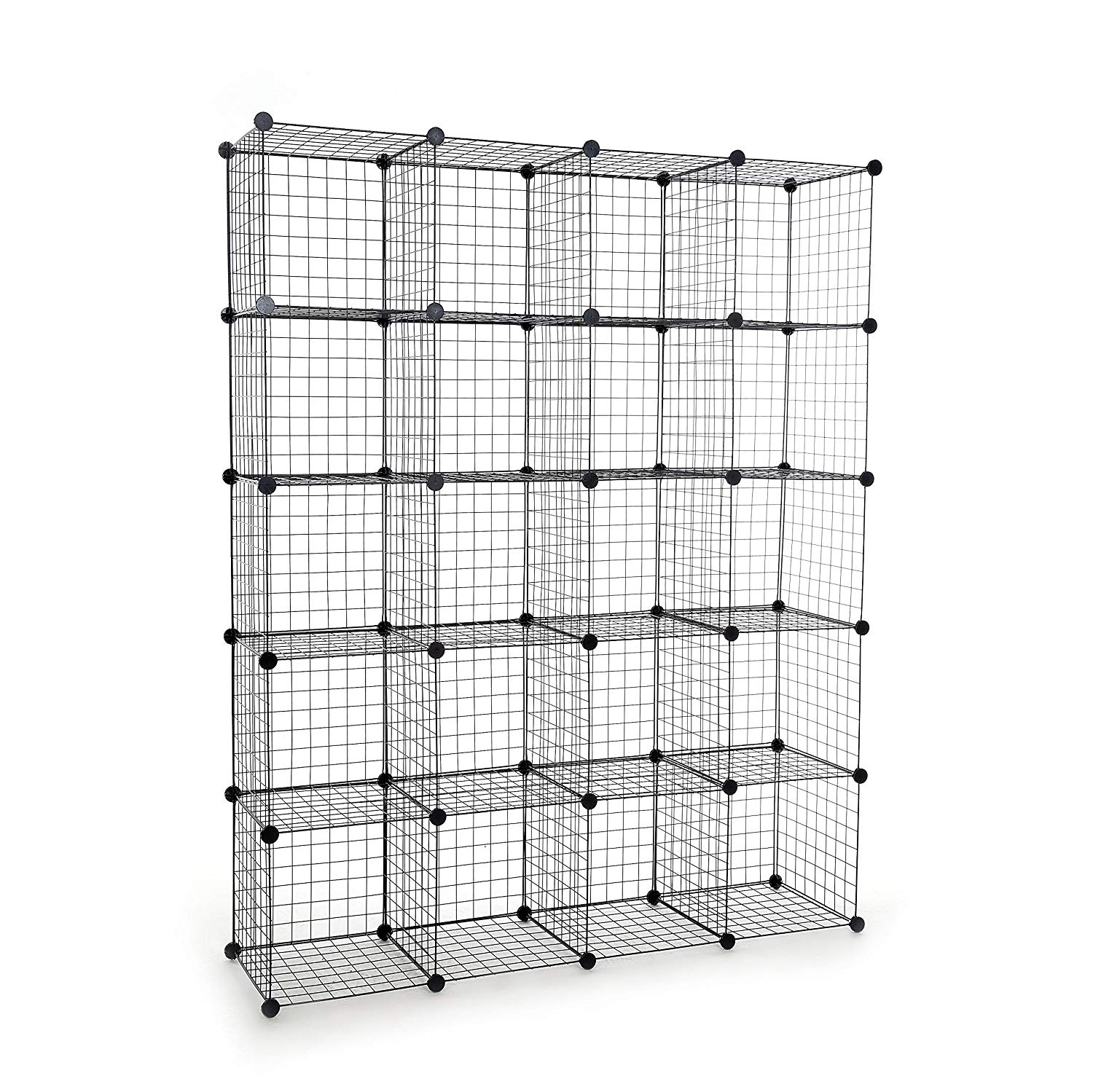 Wondrous Leshp Storage Cubes Stackable Interlocking Wire Shelves Black Set Of 20 Download Free Architecture Designs Embacsunscenecom