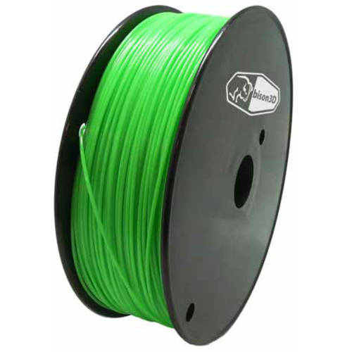 Bison3D Universal Filament for 3D Printing, 1.75mm, 1kg/Roll, Green (PLA)