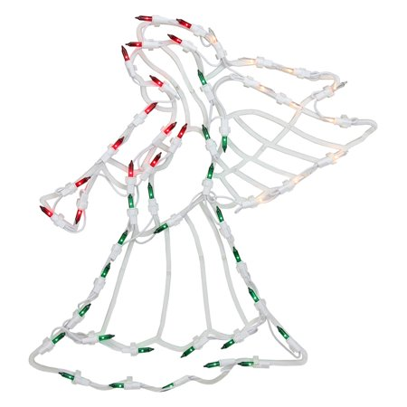 Northlight 18 in. Angel Christmas Window Silhouette Decoration - 80s Christmas Decorations