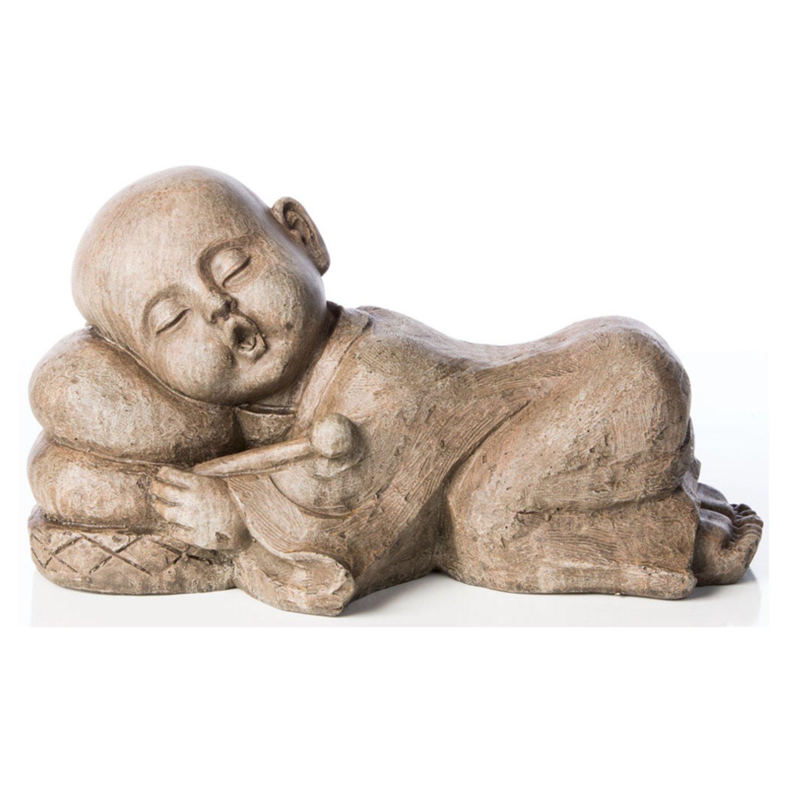 Alfresco Home Sleepy Drummer Buddha Garden Statue