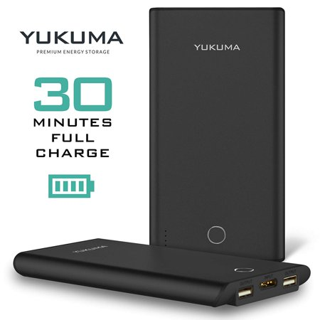 Yukuma Power Bank - Patented Technology Full Recharge in 30 Minutes - 10000 mAH - Portable Charger External Batteries For Phones, Tablets, Cameras [German Engineered] (FCC, CE