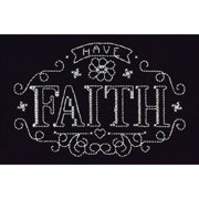 """Have Faith Counted Cross Stitch Kit, 4"""" x 6"""", 14-Count"""