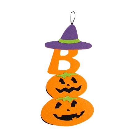 Mosunx Creative Cute Halloween Pumpkin Hanging Decorate Home Party Atmosphere (Decorated Pumpkins)