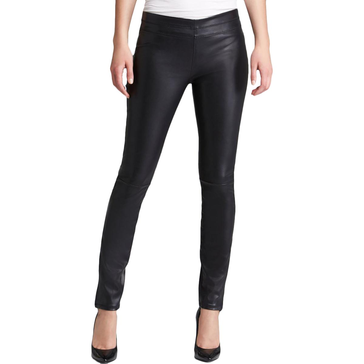 Blank NYC Womens Faux Leather Signature Ankle Pants