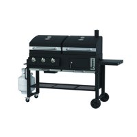 Expert Grill 3 IN 1 Dual Fuel Gas and Charcoal 3 Burner Grill with Griddle