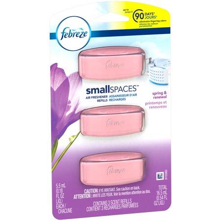 Febreze Small Spaces Air Freshener Refills, Spring & Renewal, 3 ...