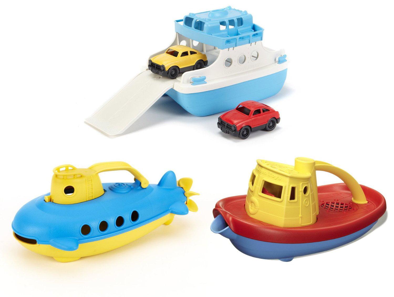 Green Toys Ferry Boat, Submarine & Tug Boat Bath Toys by Green Toys