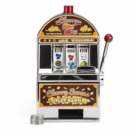 Token Machine - Cherry Sevens Slot Machine Bank with 10 Free Tokens