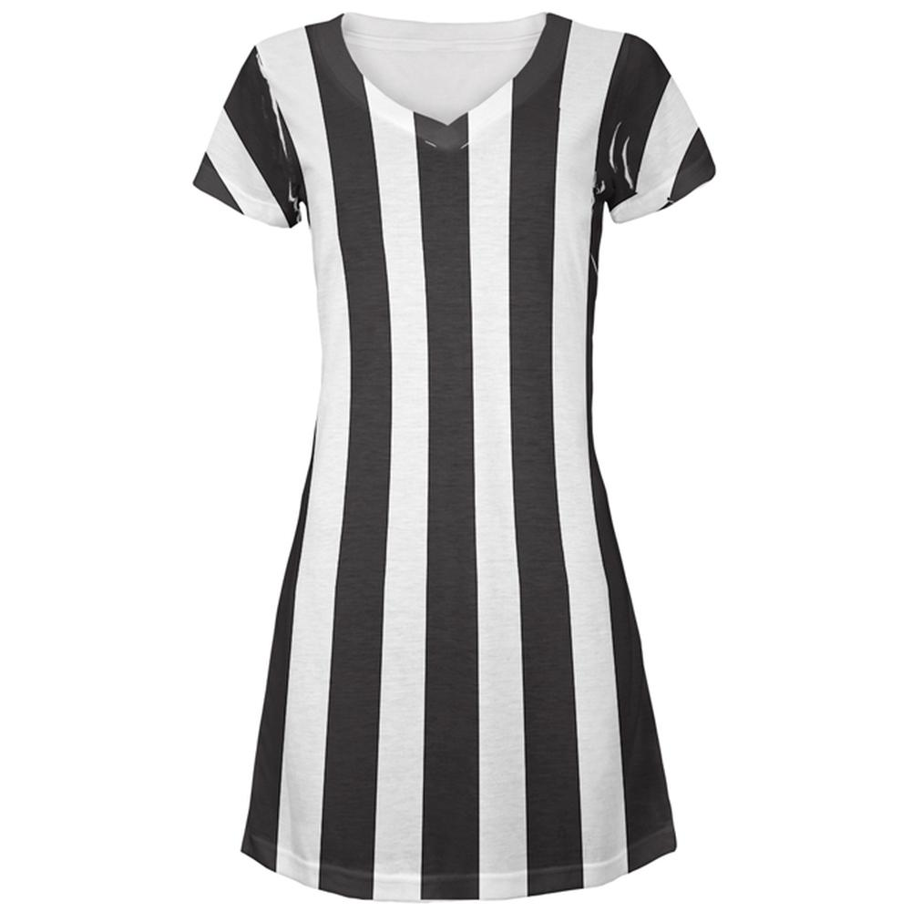 Halloween Referee Costume All Over Juniors Beach Cover-Up Dress