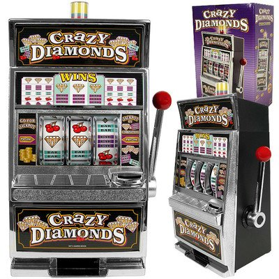 Trademark Games Crazy Diamonds Slot Machine Bank With 100 Tokens