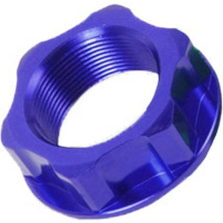 ZETA Steering Stem Nut and Bolt Blue  M24X32-P1.5 H10 ZE58-2252