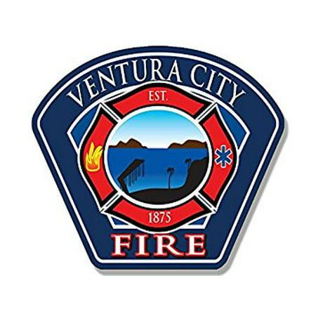 Party City Ventura (Ventura City Fire Logo Sticker Decal (ca california firefighter) Size: 3 x 4)