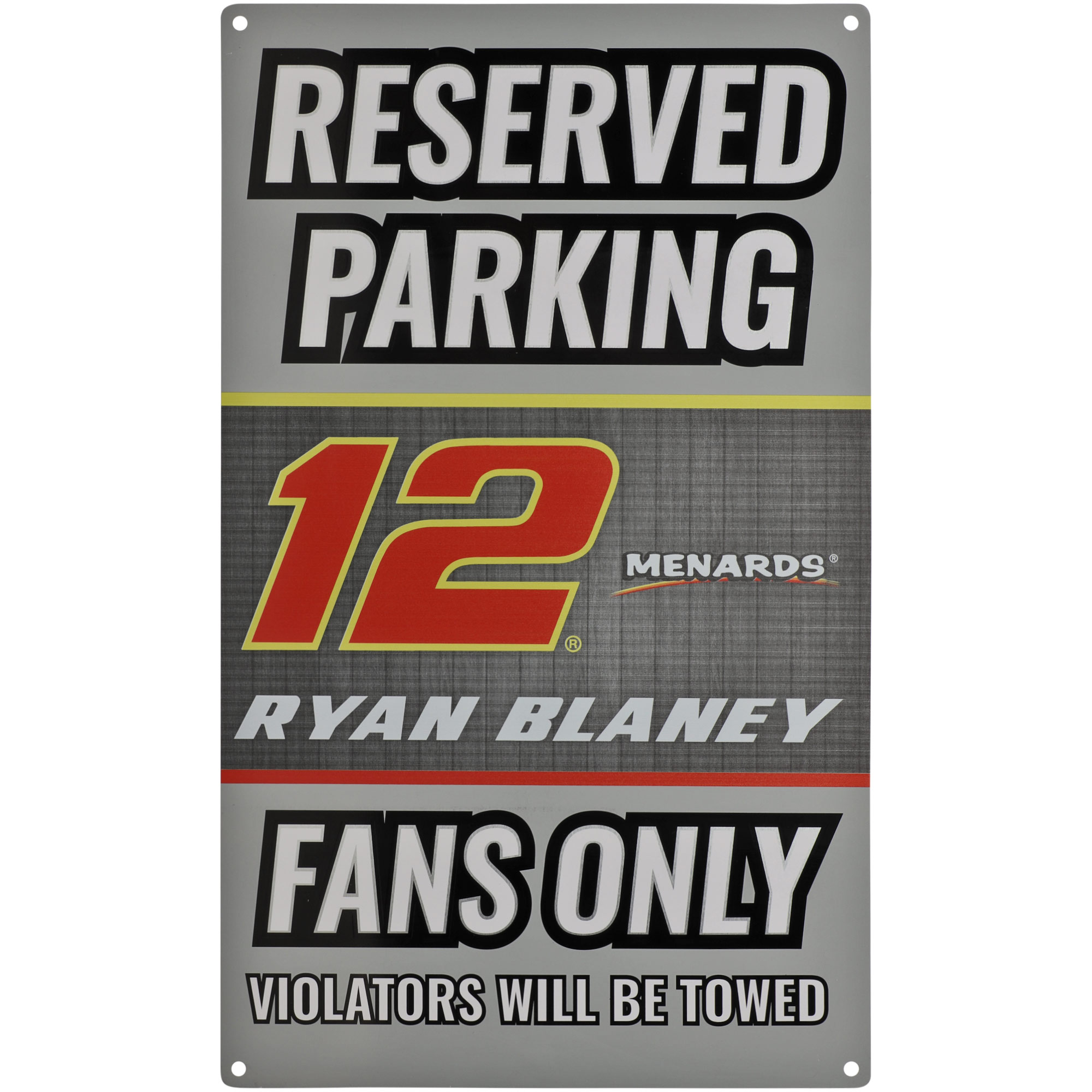 Ryan Blaney Driver Metal Parking Sign - No Size