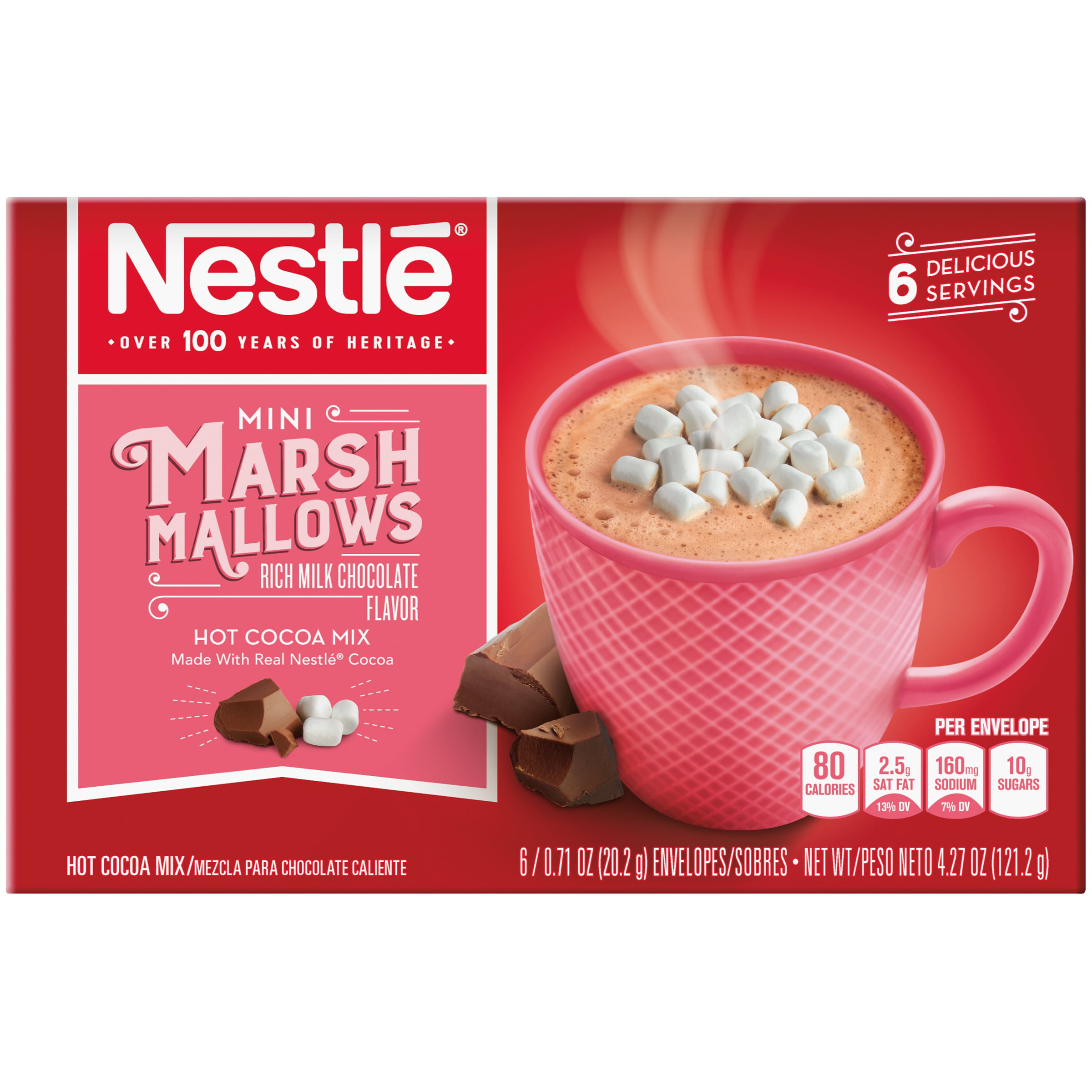 NESTLE Mini Marshmallows Hot Cocoa Mix 6-0.71 oz. Packets - Walmart.com