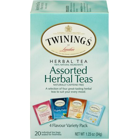 (6 Boxes) Twinings of London Assorted Herbal Teas, 20 Ct