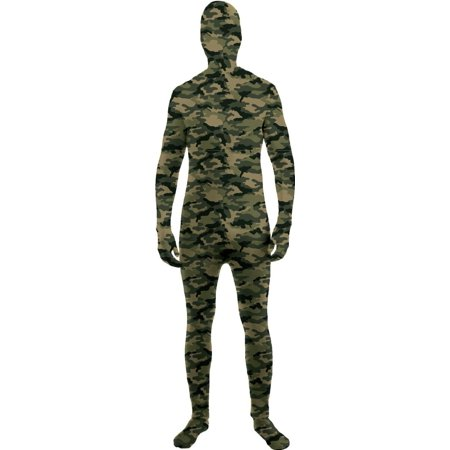 I'm Invisible Costume Stretch Body Suit, Camo, Child Medium, Stretch jumpsuit and detached hood By Forum Novelties - Skeleton Suit