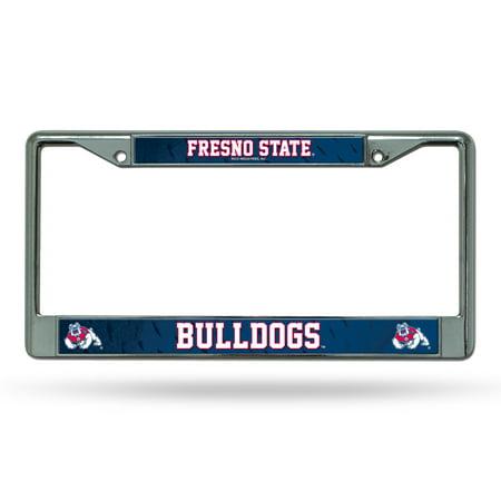Fresno State Bulldogs NCAA Chrome Metal License Plate (Bulldogs License Plate)
