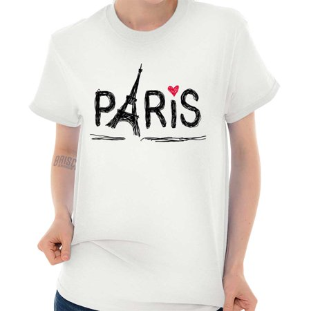 Paris Eiffel Tower France Pretty Graphic T Shirt Tee ()