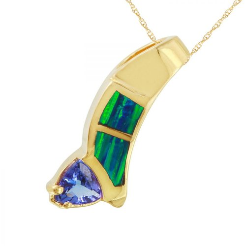 Foreli Ladies 0.62CTW Tanzanite 14K Yellow Gold Necklace by Generic