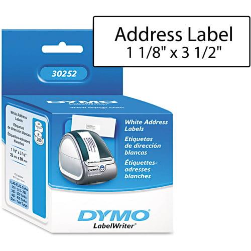 "Dymo Address Labels, 1.12"" x 3.5"""