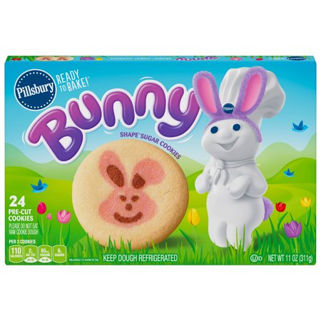 Pillsbury Ready To Bake Bunny Shape Sugar Cookies Walmart Com