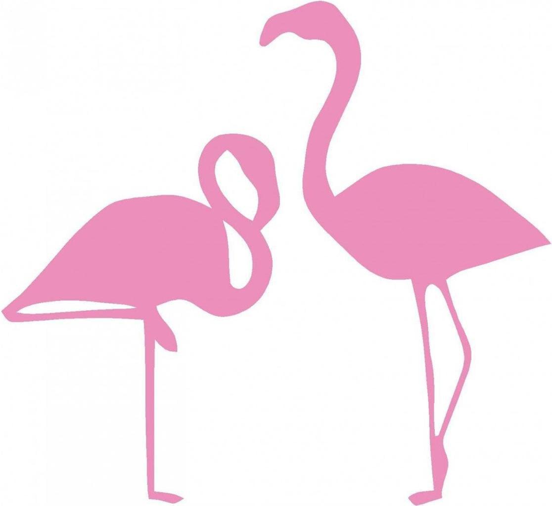 "Custom Wall Decal Flamingos Picture Art - Living Room - Peel & Stick Sticker - Vinyl Wall Decal - 20x20"""
