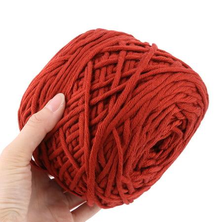 Acrylic Fiber Handmade Crochet Socks Gloves Knitting Yarn Cord Brick Red 200g - image 3 of 4