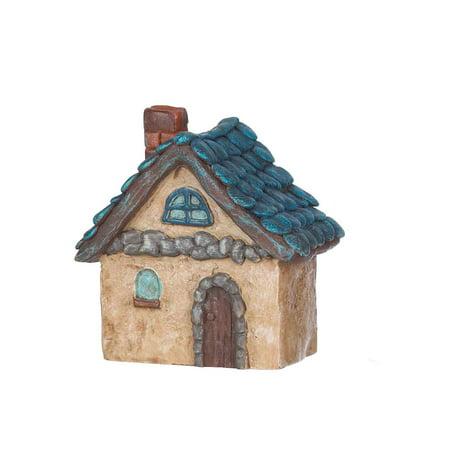 Mini Blue Cottage Figurine - Garden Fantasy by Ganz
