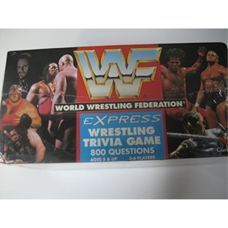 WWF World Wrestling Federation Wrestling Trivia Game by Cardinal Industries