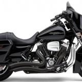Cobra Speedster Exhaust Short Swept Black Fits 10-13 Harley-Davidson Electra Glide FLHX