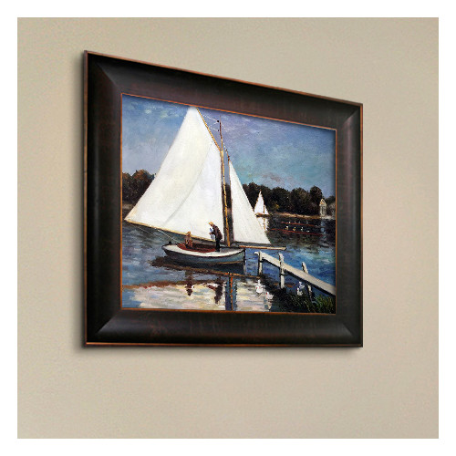 Wildon Home  Sailing at Argenteuil by Claude Monet Framed Original Painting