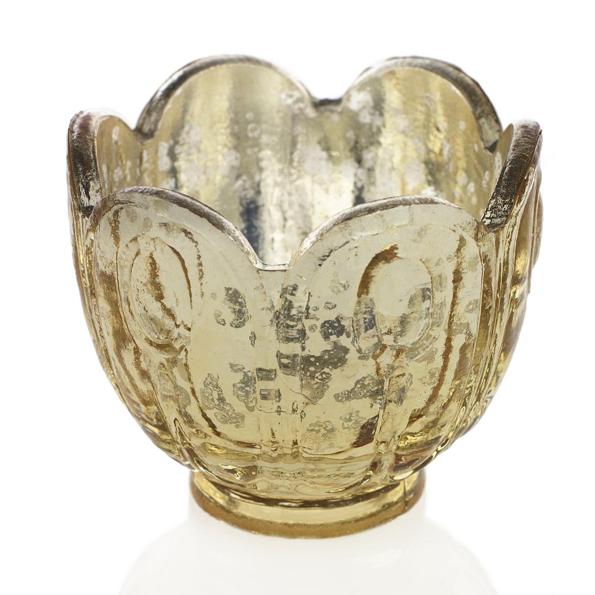 275 gold mercury glass tea light candle holder blossom bud vase 275 gold mercury glass tea light candle holder blossom bud vase 6 pack walmart reviewsmspy