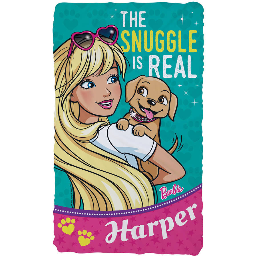 Personalized Barbie Snuggle Is Real Kids Fuzzy Blanket