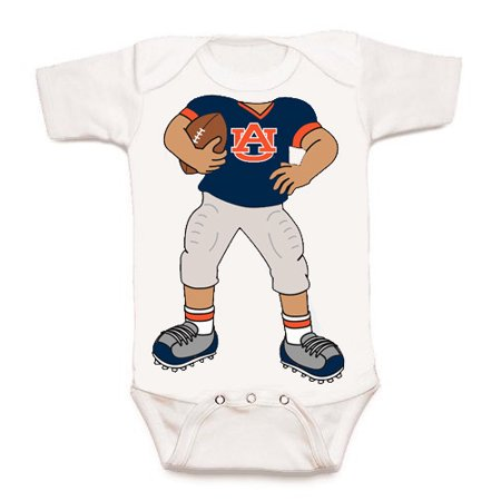 - Auburn Tiger Heads Up! Football Baby Onesie