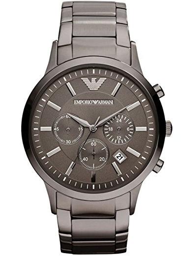 Emporio Armani Men's Classic Chronograph Stainless Steel Gunmetal Watch AR2454