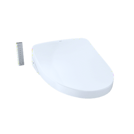 TOTO WASHLET+ S550e Elongated Bidet Toilet Seat with ewater+ and Auto Open and Close Contemporary Lid, Cotton White -