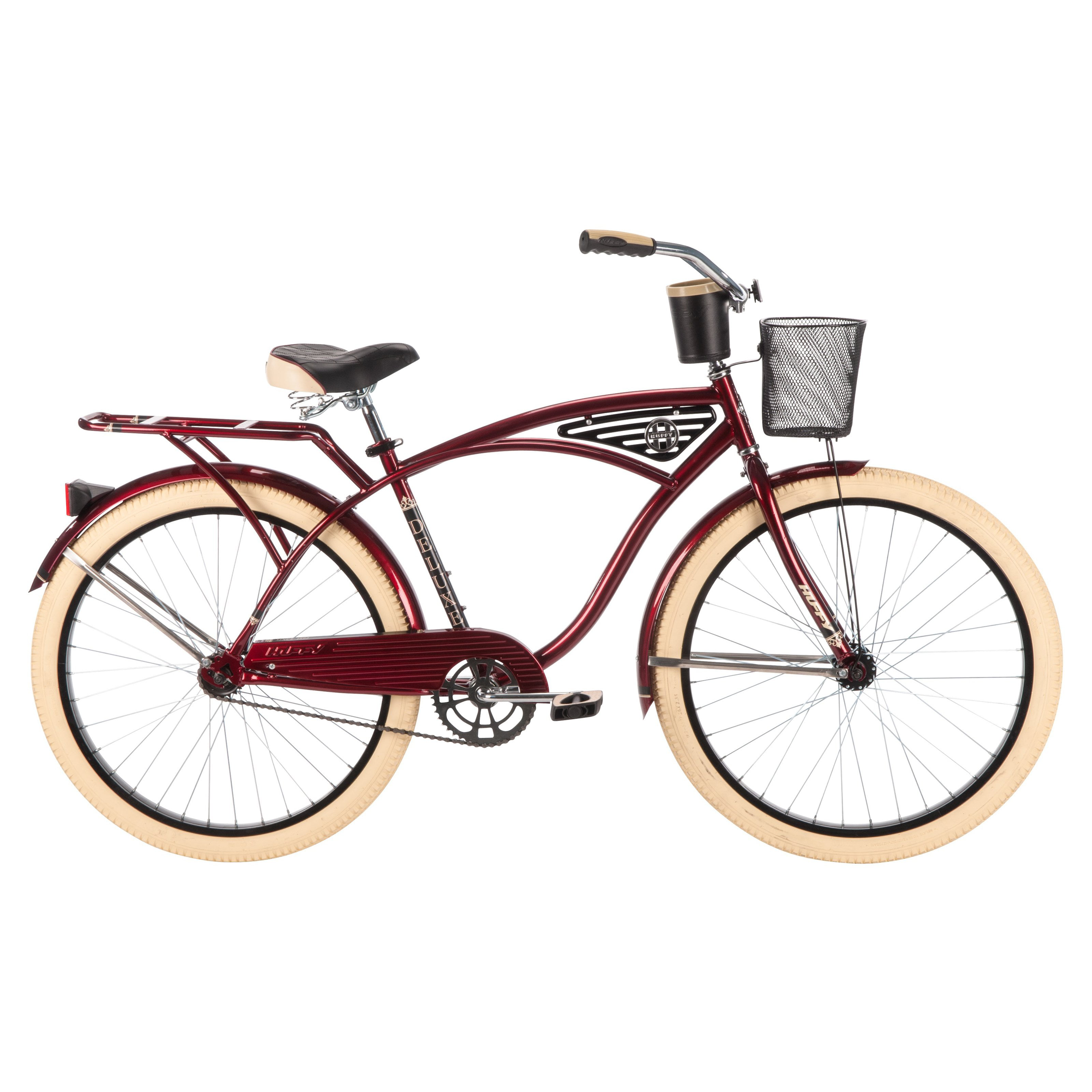 Huffy Deluxe 26 in. Classic Cruiser Red by Huffy