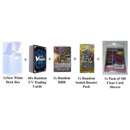 Cardfight Vanguard 60 Cards Pack w/ RRR + 1 Sealed Pack + Deck Box and Sleeves by