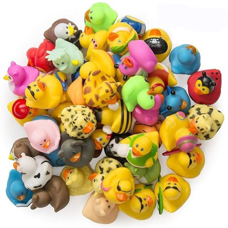 Halloween Rubber Duck (ASSORTED RUBBER DUCKIES - 100PC bath floater – baby showers accessories – bulk ducks for kids – Easter party, Halloween party favors, rubber ducks supplies and)