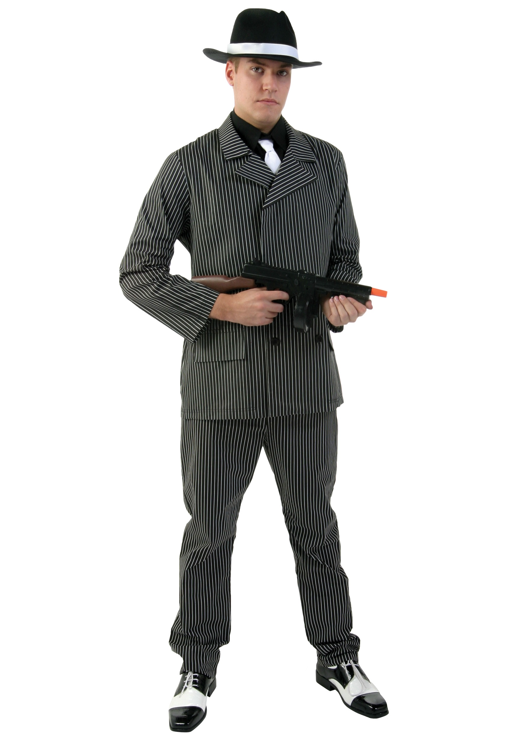 sc 1 st  Walmart & Menu0027s Wide Pin Stripe Gangster Costume - Walmart.com