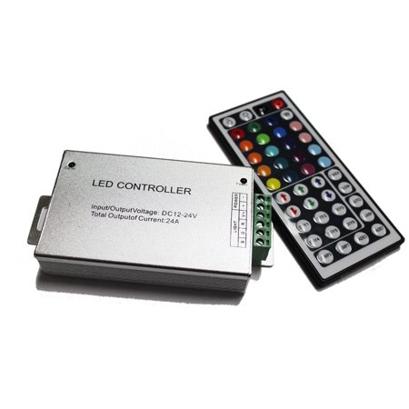 Rgb Led Strip Controller - LED4Everything (TM) DC 12V 24A 288W RGB 44 Key Remote Controller For LED SMD 5050 3528 Strip Lights