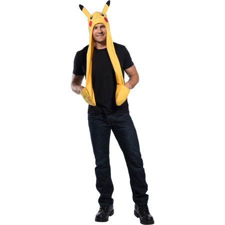 Pokemon Pikachu Hooded Scarf Halloween Costume Accessory