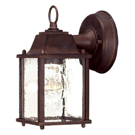 Copper Outdoor Wall Light - Acclaim Lighting  5001  Wall Sconces  Builder's Choice  Outdoor Lighting  Outdoor Wall Sconces  ;Burled Walnut / Clear Beveled Glass