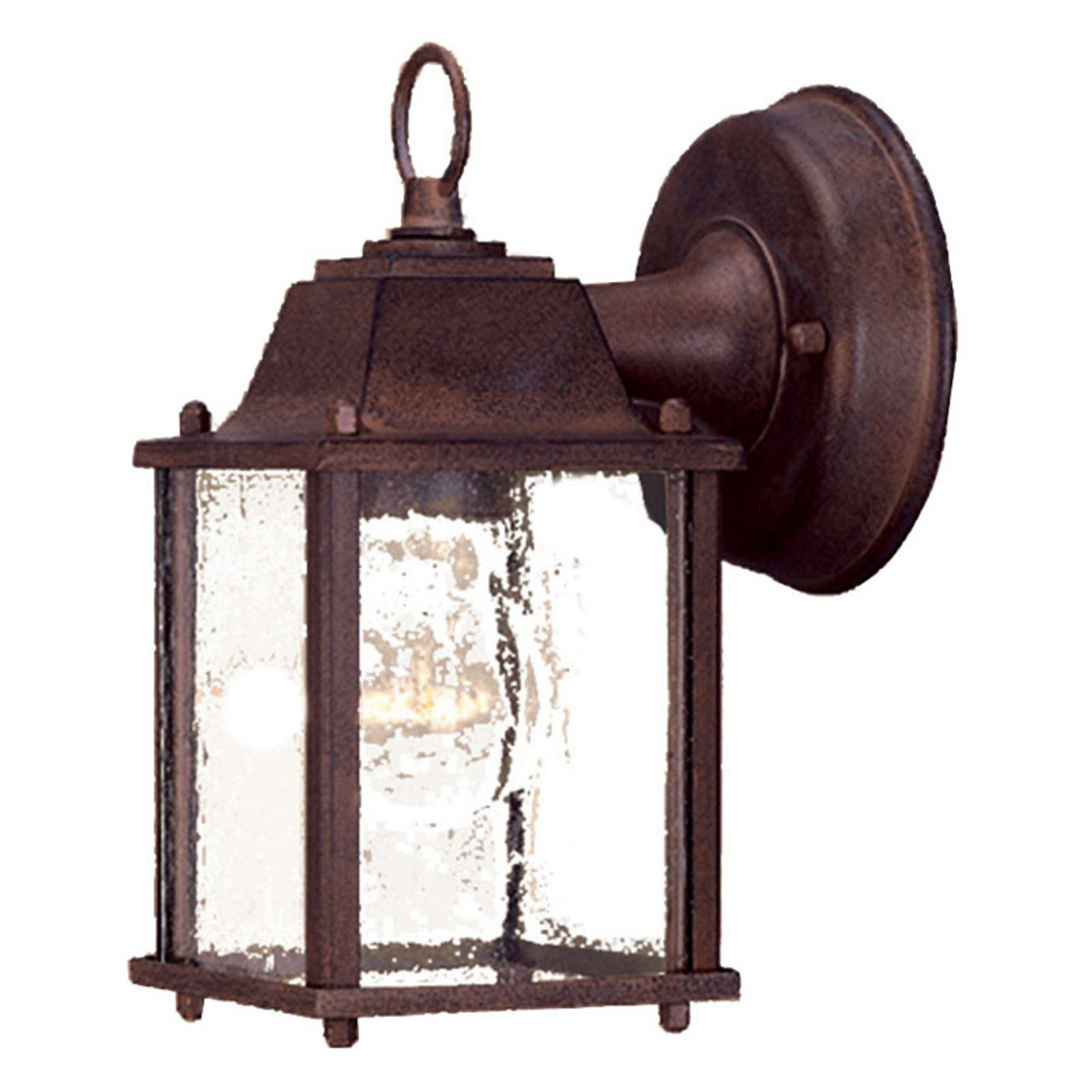 Acclaim Lighting  5001  Wall Sconces  Builder's Choice  Outdoor Lighting  Outdoor Wall Sconces  ;Burled Walnut / Clear Beveled Glass