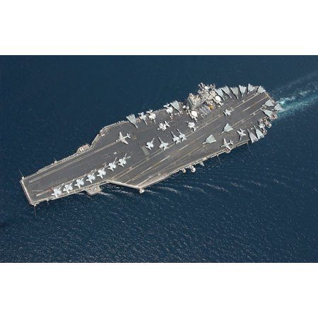 Aircraft carrier USS George Washington Poster Print by Stocktrek (George Washington Carver Best Known For)