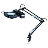 LumaPro 6MNT4 Round Magnifier Light, 1.75, Fluor, Black
