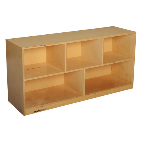 Childcraft 5 Compartment Cubby with Casters