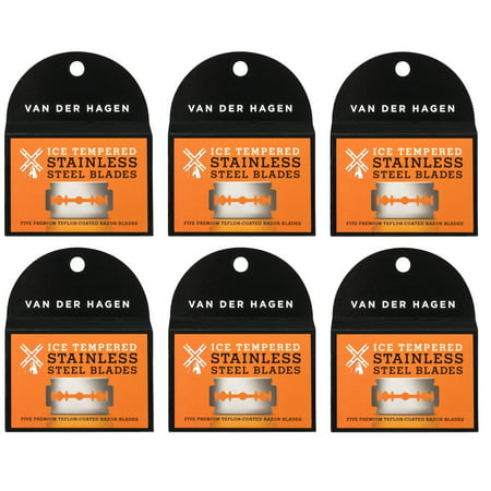 Van Der Hagen Stainless Steel Double Edge Razor Blades 5 Blades (Pack of 6) + Old Spice Deadlock Spiking Glue, Travel Size, .84 - Vans Spikes