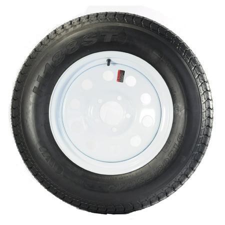 Bolt-On Spare Eco Trailer Tire On Rim F78-15ST 15 in. 5 Lug Wheel White Modular