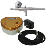 New HEART Air Compressor Gravity Airbrush Kit Set Hose Cake Tattoo Nail Body Art